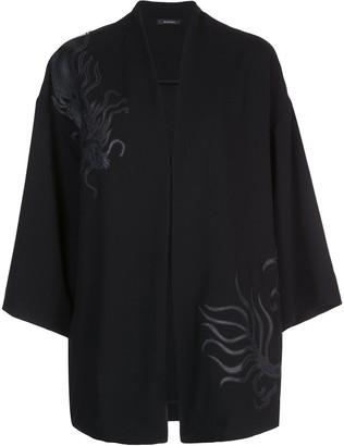 Natori Dragon Applique Kimono