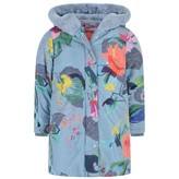 Oilily OililyGirls Blue Brushed Bloom Cobble Coat