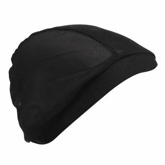 F Fityle Women Sleeping Mesh Net Stretchy Chemo Hair Loss Turban Hats Head Wrap Hijab - Black as described