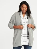 Old Navy Plus-Size Open-Front Cable-Knit Cardi