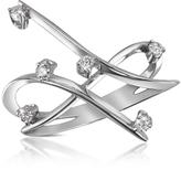 Forzieri 0.18 ctw Diamond Cross-Over Ring
