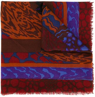 Jean Louis Scherrer Pre Owned Abstract Print Scarf
