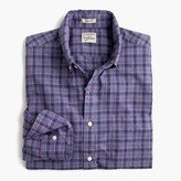 J.Crew Secret Wash shirt in heather poplin purple plaid