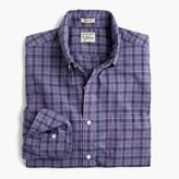 J.Crew Tall Secret Wash shirt in heather poplin purple plaid