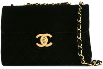 Chanel Pre Owned 1994-1996 Jumbo xl double chain bag
