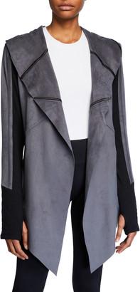 Blanc Noir Sleeper Drape Front Jacket