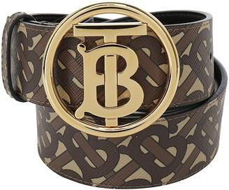 Burberry Logo Buckle Monogram Printed Belt