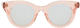 Sacai Pink Native Sons Edition Huxley Round Sunglasses