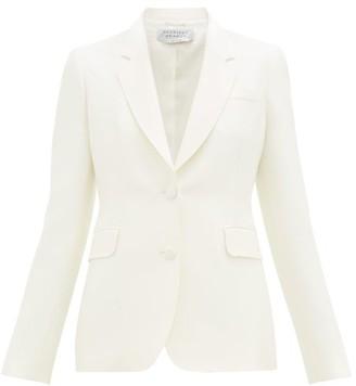 Gabriela Hearst Sophie Single-breasted Silk-crepe Jacket - Ivory