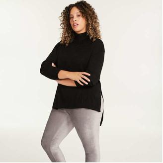 Joe Fresh Women+ Turtleneck Sweater, Fuchsia (Size 2X)