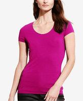 Lauren Ralph Lauren Stretch Scoop Neck T-Shirt