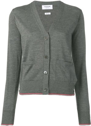 Thom Browne RWB-detail V-neck cardigan