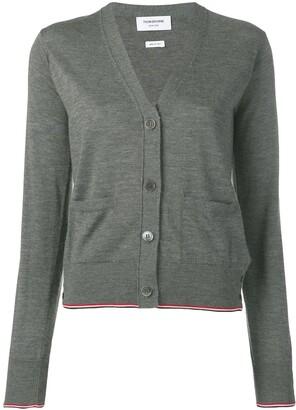 Thom Browne TWB Tipping cashmere cardigan