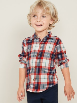 Old Navy Plaid Twill Shirt for Toddler Boys