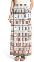 Nic+Zoe Sahara Squares Print Maxi Skirt