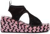 Kenzo Black Nolan Wedge Espadrille Sandals