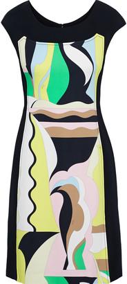 Emilio Pucci Paneled Printed Stretch-crepe Dress