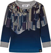 Molo Tokyo Upside Down Print Rickey Long Sleeve T-Shirt