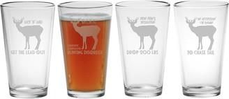 Susquehanna Glass Hunting Theme Pint Glasses (Set of 4) 16 oz