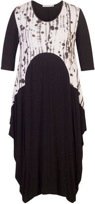 Chesca Print Trim Jersey Dress