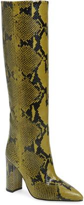 Paris Texas Python Print Block Heel Boot