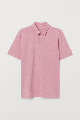 H&M Slim Fit Jersey Polo Shirt - Pink