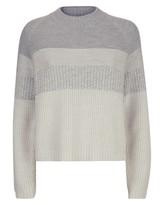 Jaeger Wool Textured Stripe Sweater