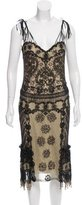 Naeem Khan Embellished Silk Dress