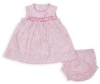 Kissy Kissy Baby Girl's Unicorn Gardens 2-Piece Print Dress & Bloomers Set