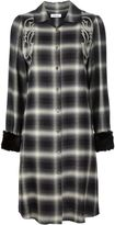 Christian Dada Western embroidered plaid dress