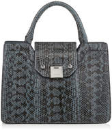 Jimmy Choo REBEL TOTE/S Dusk Blue Gloss Elaphe Tote Bag