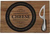Salt&Pepper Salt & Pepper Fromage Wooden Cheese Board & Stainless Steel Knife