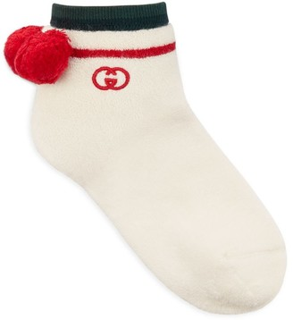 Gucci Ankle Socks With Pom-Poms