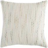 Pier 1 Imports Basketweave Striped Aqua Pillow