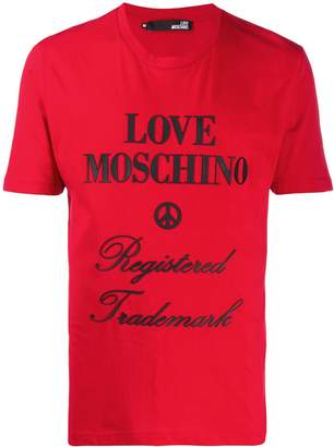 Love Moschino rubberised logo relaxed-fit T-shirt