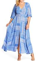 City Chic Plus Size Women's China Plate A-Line Maxi Dress