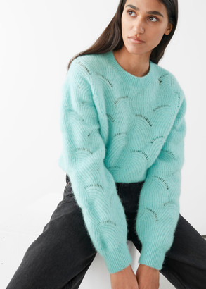 And other stories Wave Knitted Wool Blend Sweater