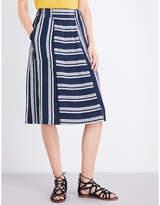 Whistles Adina striped woven skirt