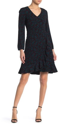 Draper James Winter Berry Long Sleeve Ruffled Dress