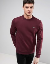 Lacoste Sweatshirt With Croc Logo In Red
