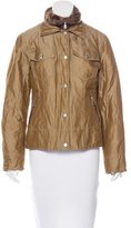 Bogner Metallic Button-Up Jacket