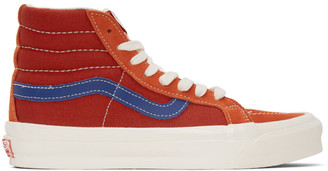 Vans Red and Blue OG Sk8-Hi LX Sneakers
