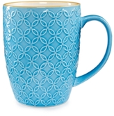 Certified International Chelsea Collection Embossed Blue/Yellow Floral Mug