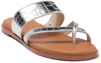 Cole Haan Felicia Croc Embossed Thong Sandal
