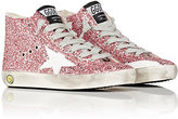 Golden Goose Deluxe Brand Francy Glitter High-Top Sneakers-PINK