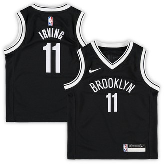 Nike Preschool Kyrie Irving Black Brooklyn Nets 2019/20 Jersey - Icon Edition