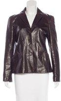 Miu Miu Button-Up Leather Jacket