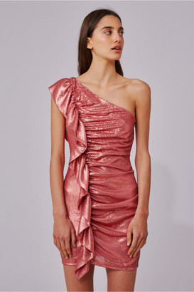 C/Meo Collective AS IT GOES DRESS rosewood sequin