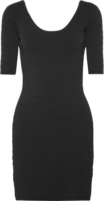Elizabeth and James Lydia Textured Stretch-ponte Mini Dress