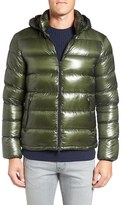 Herno Men's 7 Dernier Water Resistant Down Puffer Jacket With Detachable Hood